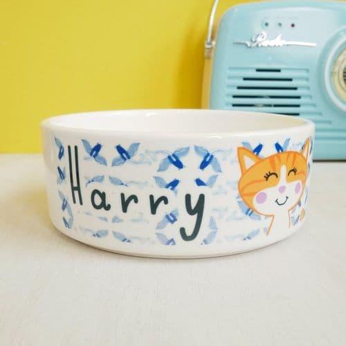 Personalised Cat Bowl - Koi