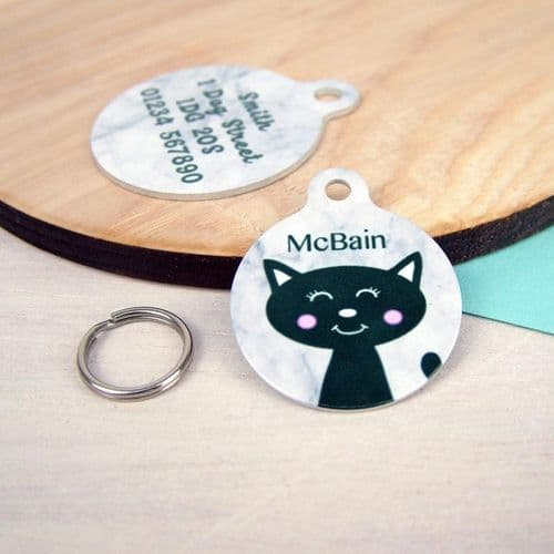 Personalised Cat ID Tag - Marble