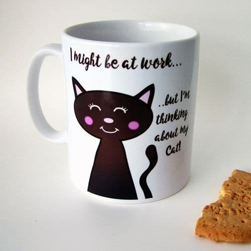Personalised Cat Mug - Thinking About My Cat