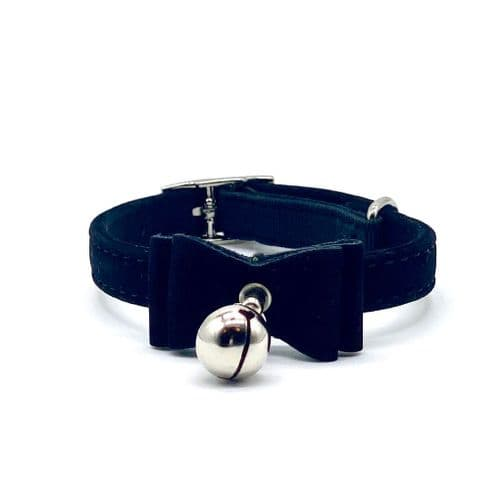 Black Cat Collar With Bow