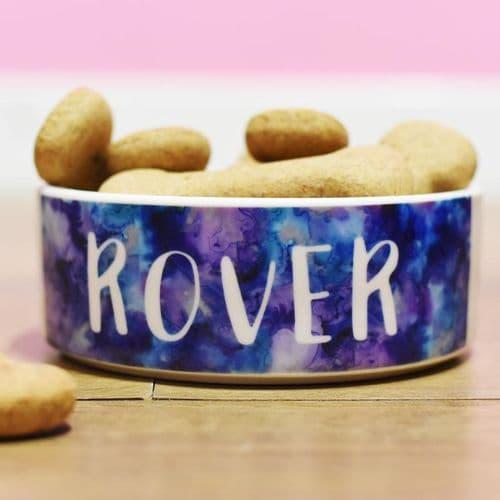 Ceramic Personalised Dog Bowl - Inkspell