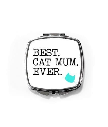 Compact Mirror - Best Cat Mum Ever