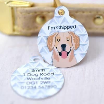 Personalised Dog ID Tag - Geometric
