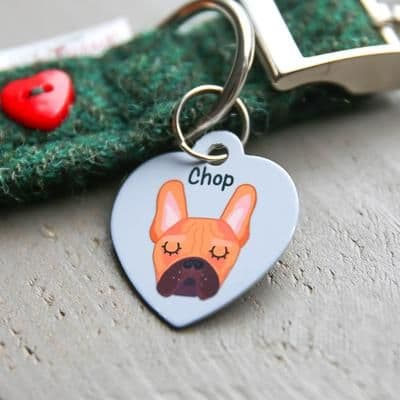 Personalised Dog ID Tag - Heart