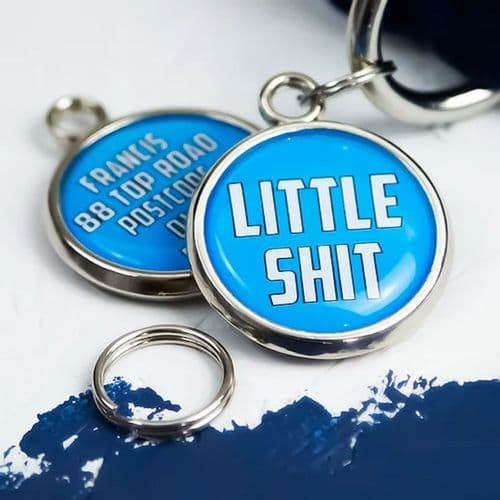 Personalised Dog ID Tag - Little Shit