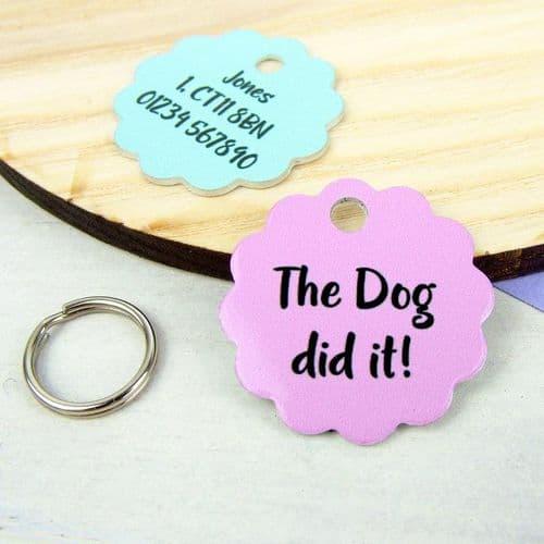 Personalised Dog ID Tag - Pastel Cloud
