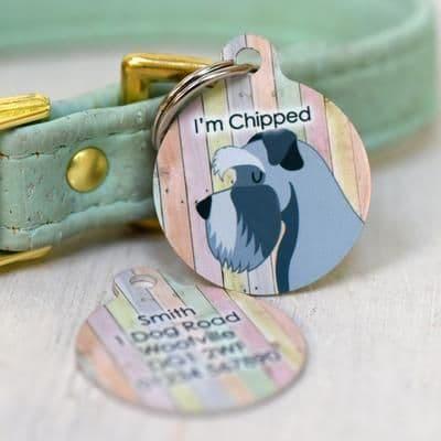 Personalised Dog ID Tag - Pastel Wood