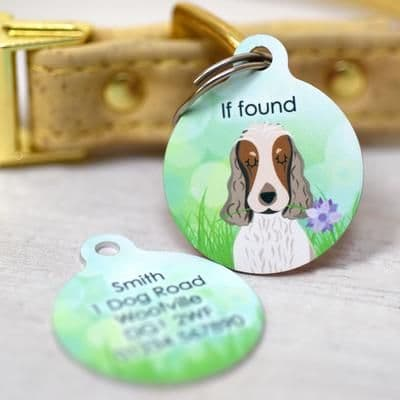 Personalised Dog ID Tag - Spring - Choose Your Breed