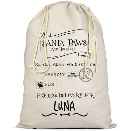 Personalised Dog Santa Sack