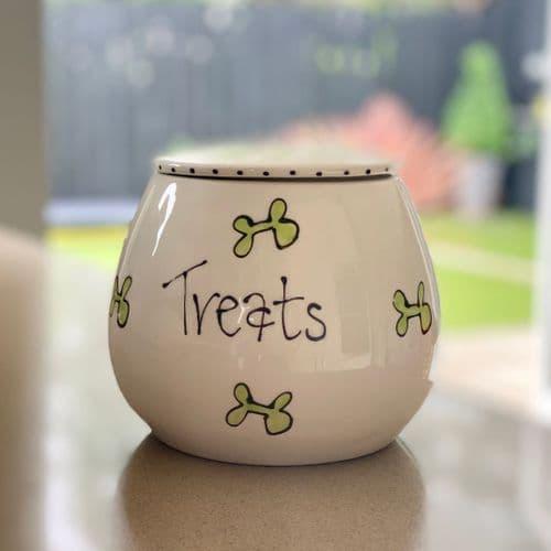 Personalised Dog Treat Jar - Whimsical