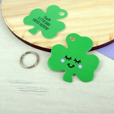 Pet ID Tag - Personalised - Shamrock