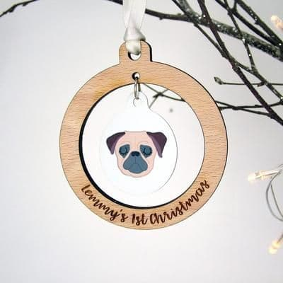 Puppy's First Christmas Bauble