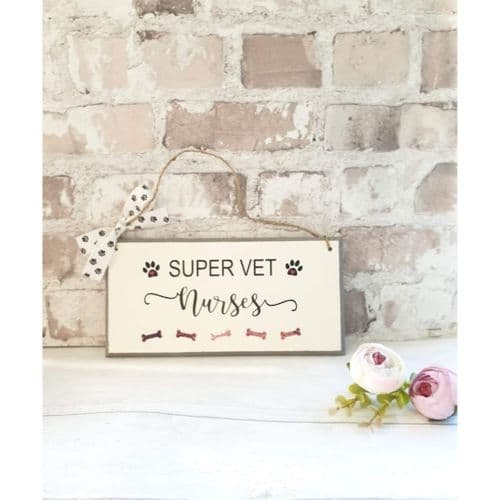 Wall plaque - Super Vet Nurses