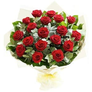 BOUQUET WITH 20 RED ROSES