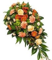 Bright autumn colours  spray half coffin cascade