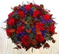 Deep colours wreath