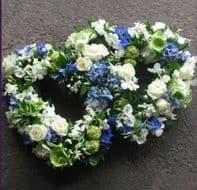 DOBLE BLUE WHITE HEART