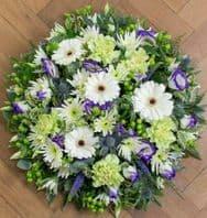 Gerbera funeral posy pad..
