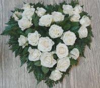 HEART WHITE ROSE