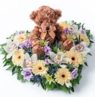 HEART WITH TEDDY BEAR