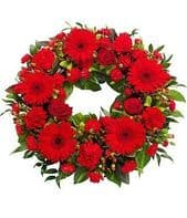 WREATH RED