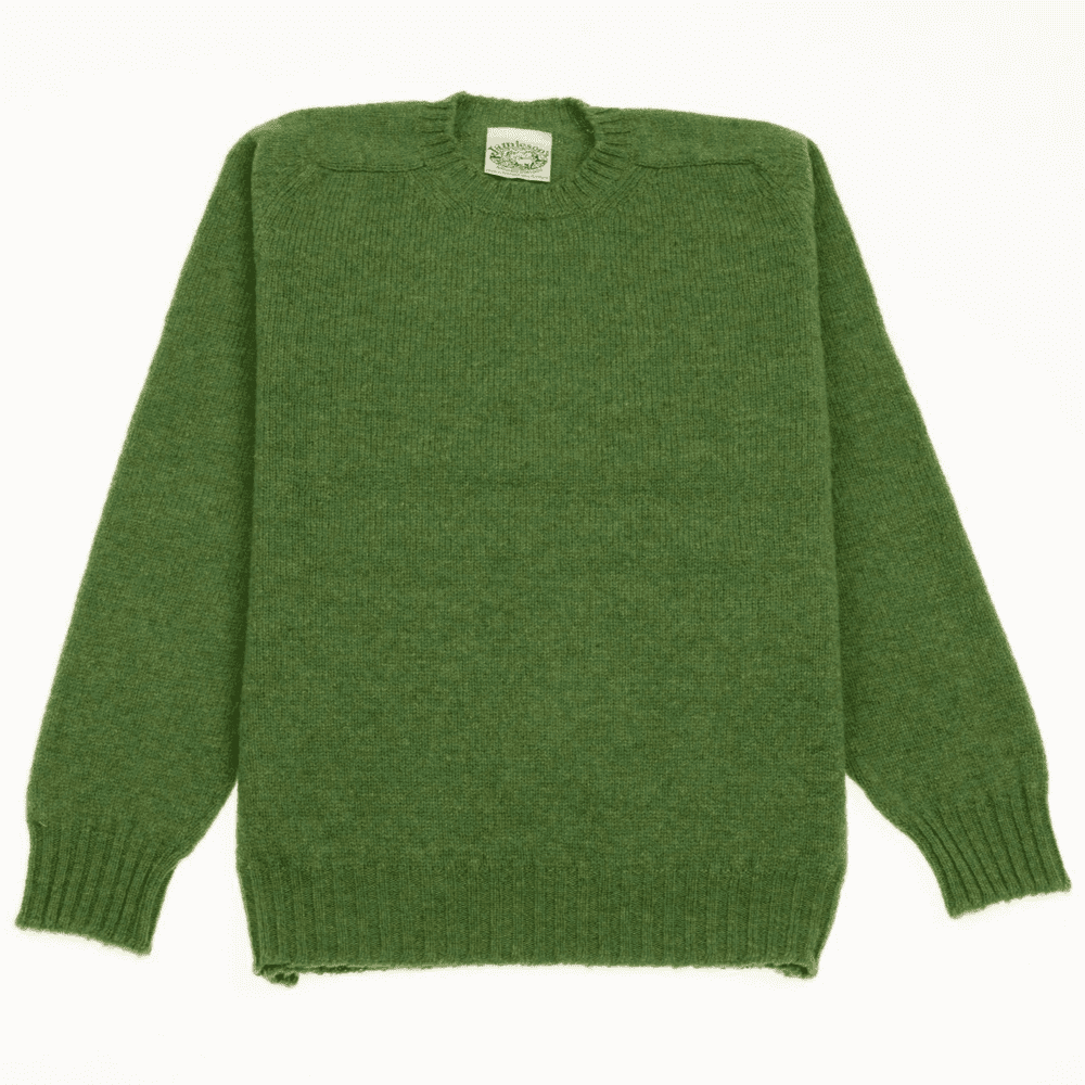 Crew Neck Saddle Shoulder Sweater - 259