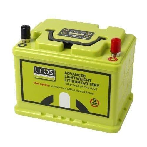 LiFos is a 105Ah deep cycle Lithium-Iron Phospate (LiFePO4) battery.