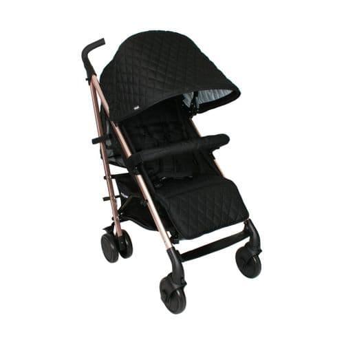 Billie Faiers Rose Gold Black Quilted Stroller Signature Range MB51