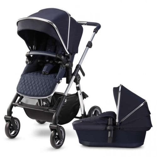 Silver Cross Pioneer 2020 Pushchair & Carrycot, Sapphire Blue