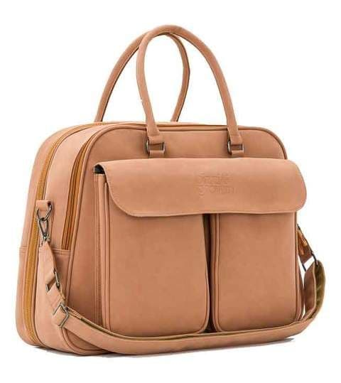 VEGAN LEATHER POD ® - PORCINI - BABY TRAVEL CHANGING BAG